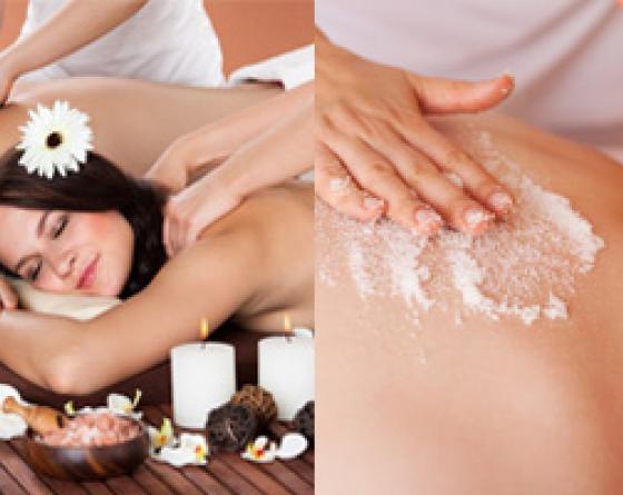 Soin bien être gommage+massage (1h)
